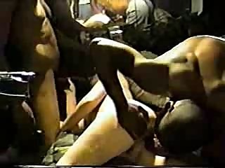 White bitch cuckold gangbang