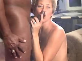 Cool blonde mom getting black cock