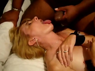 Blonde wife tied and abused again
