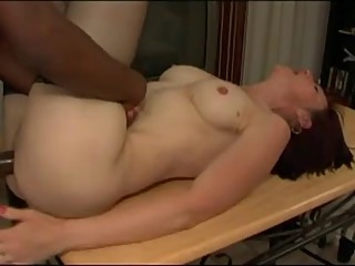 White Wife Gets BBC Right on the kitchen Table MC169
